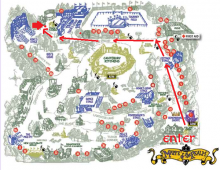 Map to King Richard's Faire Booth