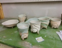 Wadding Pots for Wood Kiln