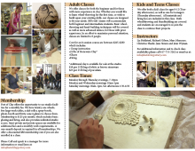 Feet of Clay Brochure (Featuring Me Carving)