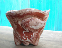 Red Agateware Cup